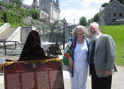 Photo: Kevin Dooley and ?? with Rideau Canal commemorative plaque